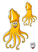Colorful smiling cartoon squid — Stockvektor