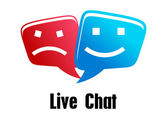 Live Chat icon — Stock Vector