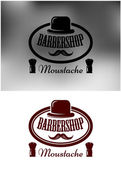 Classy Barber Shop icon, emblem or label — Stock Vector