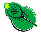 Tennis sports icon — Stock Vector