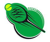 теннисные спорт значок — Cтоковый вектор