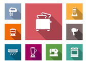 Flat home appliances icons — Stockvector