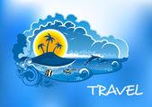 Travel poster design — Stock Vector
