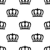 Seamless pattern of royal crowns — Vettoriale Stock
