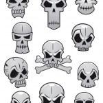 Human Halloween skulls set — Stock Vector #50287657