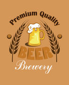 Premium Quality Beer - Brewery label — Vector de stock