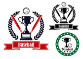 Baseball badges or emblems — Stock Vector