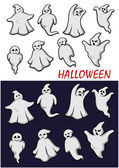 Cute Halloween ghosts — Stock Vector