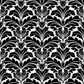 Bold black and white damask floral seamless pattern — Stock Vector