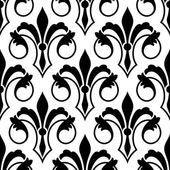 Fleur de Lys seamless bakground pattern — Stock Vector