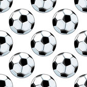Seamless background pattern of soccer balls — Stock Vector