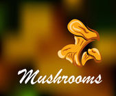 Brown and golden colored mushrooms — Stock Vector