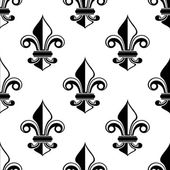 Classical French fleur-de-lis pattern — Stock vektor