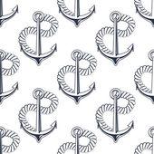 Ancoraggio marino con la corda di curling — Vettoriale Stock