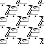 Seamless background pattern of shopping carts — Stock Vector