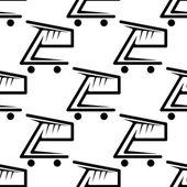 购物车的无缝背景图案 — 图库矢量图片