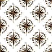 Vintage compass seamless pattern — Stock Vector