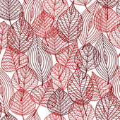 Seamless pattern of red autumnal leaves — Stock Vector