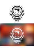 Barber shop emblem or sign — Stock Vector