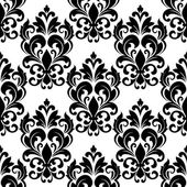 Vintage seamless floral pattern with arabesque elements — Stock Vector