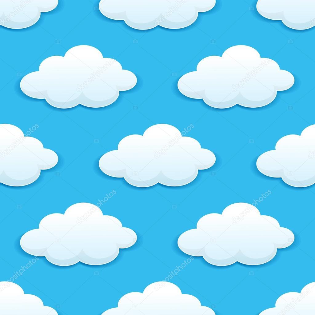Patrones sin fisuras con nubes esponjosas vector de stock seamartini 50287557 - Imagenes de nubes infantiles ...