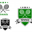 Tennis sporting emblems — Stock Vector #51075755