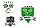 Tennis  sporting emblems — Stockvector