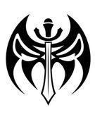 Tribal sword tattoo — Stock Vector