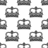 Seamless pattern of royal crowns — Stock Vector