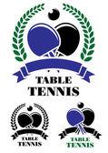 Table tennis emblems set — Stock Vector