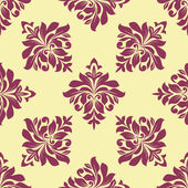 Crimson floral seamless pattern — Stock Vector