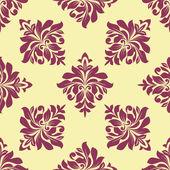 Crimson floral seamless pattern — Stock Vector