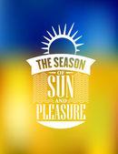 La stagione del sole e del piacere poster design — Vettoriale Stock