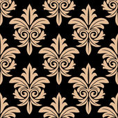Beige floral seamless pattern — 图库矢量图片