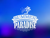 The Summer Paradise poster design — Stock Vector
