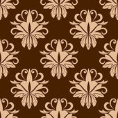 Beige and brown seamless pattern — Stock Vector