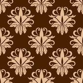 Beige and brown seamless pattern — Vecteur