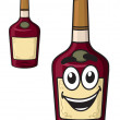 Cartoon  smiling alcohol bottle — Stock Vector #51431173