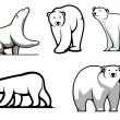 White polar bears set — Stock vektor #51431229