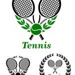 Tennis sporting emblem or logo — Stock Vector #51431245