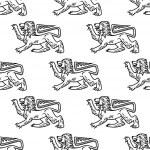 Great heraldic lion seamless — Stock Vector #51431261