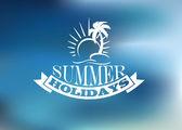 Summer Holidays poster design — Stock Vector