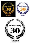 Anniversary jubilee symbol with laurel wreth — Vector de stock