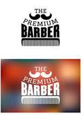 Retro barber shop emblem — Stock Vector