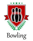 Bowling symbol for sporting deseign — Stock Vector