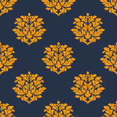 Orange colored floral seamless pattern — Stock Vector