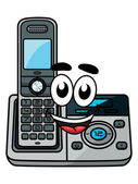 Cartoon cordless phone — Vector de stock