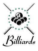 Billiards and snooker sports emblem — Stock Vector