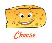 Cartoon cheese — Stock Vector
