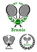 Tennis sporting emblem or logo — Stock Vector